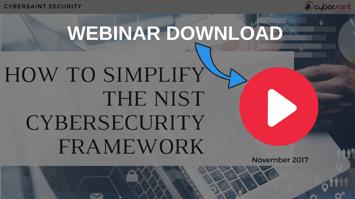 NIST CYBERSECURITY FRAMEWORK WEBINAR